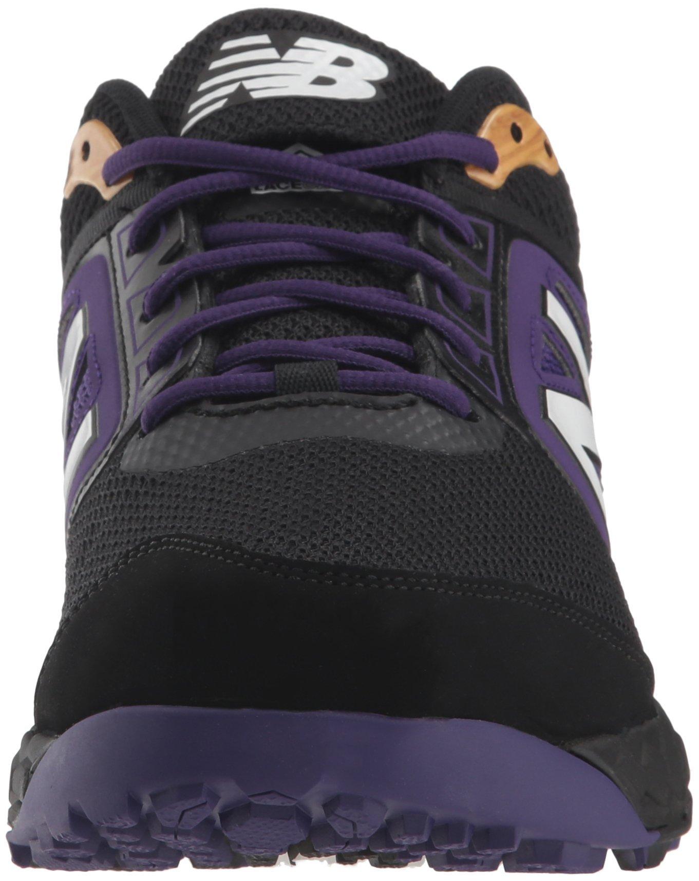 New Balance Men's 3000v4 Turf Baseball Shoe, Black/Purple, 5 D US by New Balance (Image #4)