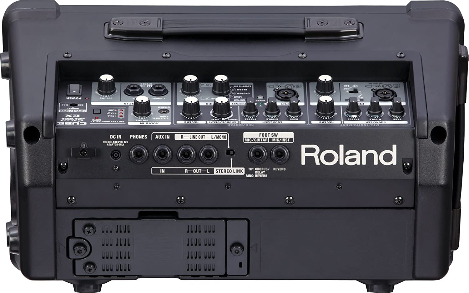 Roland Cube Street Ex 4 Channel 50 Watt Battery Powered Guitar Or Music Amplifier Home Stereo Subwoofer Musical Instruments