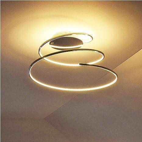 LED de techo lámpara de techo en forma de una espiral ...