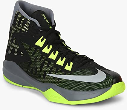 Nike Zoom Devosion Men's Basketball Shoes Black/Reflect Silver/Clear Grey  (UK 11