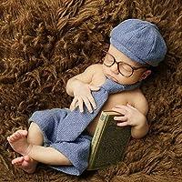 S-TROUBLE Pasgeboren fotografie rekwisieten baby jongen gentleman set kostuum kleding studio shooting