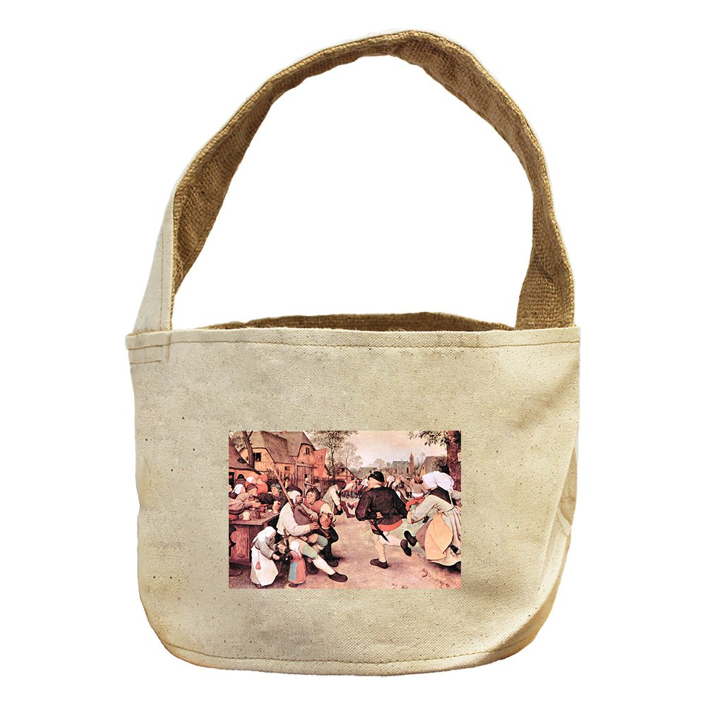 Style in Print Barn Dance (Bruegel) Canvas and Burlap Storage Basket Basket