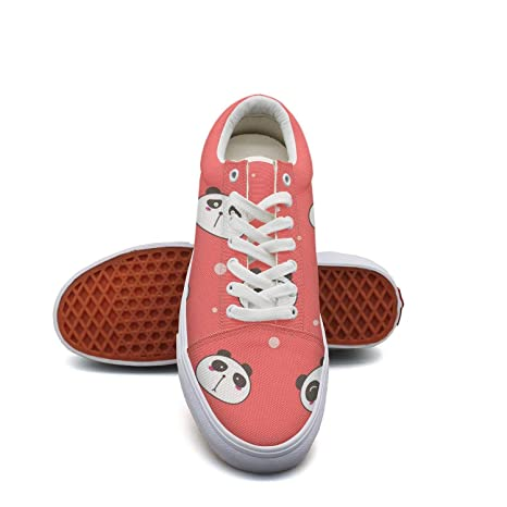 40db6508981ad Amazon.com: KJGDFS Mini Pandas Head red Background Canvas Shoes Soft ...