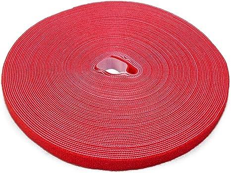 Label The Cable Klettbandrolle Doppelseitig Haken Flausch Klettkabelbinder Zuschneidbar Velours Qualität Geeignet Als Kabelbinder Klettband Ltc Roll Strap 25 M X 16 Mm Rot Pro 1260 Baumarkt