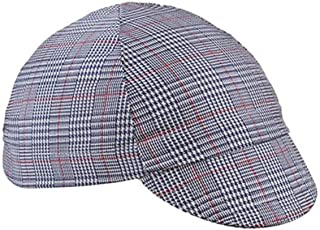 product image for Walz Caps Navy/White/Red 4-Panel Plaid Cotton Cycling Cap