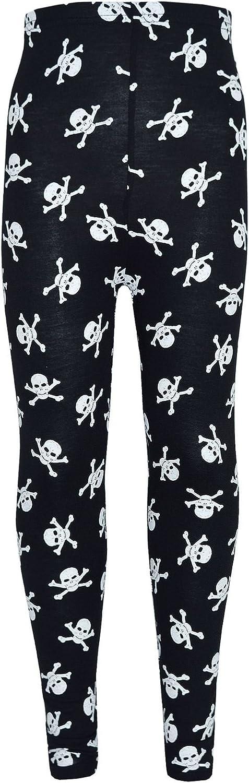 A2Z 4 Kids/® Girls Halloween Legging Spider Web Skull Print Leggings Fancy Costume New Age 3 4 5 6 7 8 9 10 11 12 13 Years