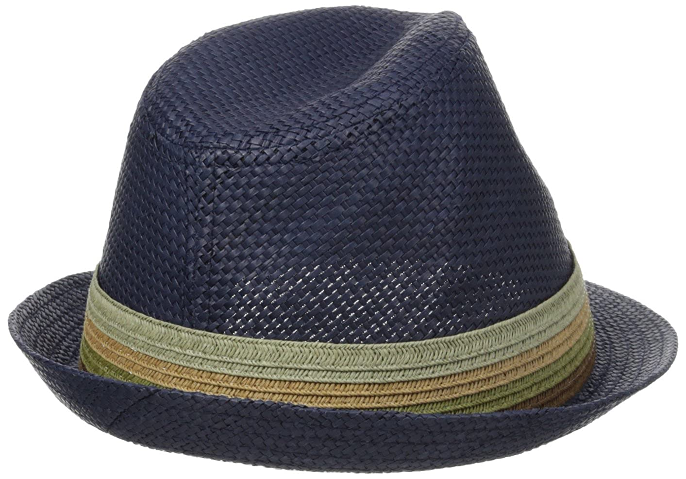 Perry Ellis Mens Braid Band Straw Fedora