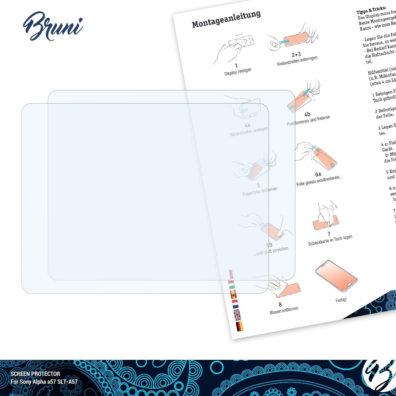 cristallino Proteggi Schermo Bruni Pellicola Protettiva per Sony Alpha a6000 ILCE-6000 Pellicola Proteggi 2X