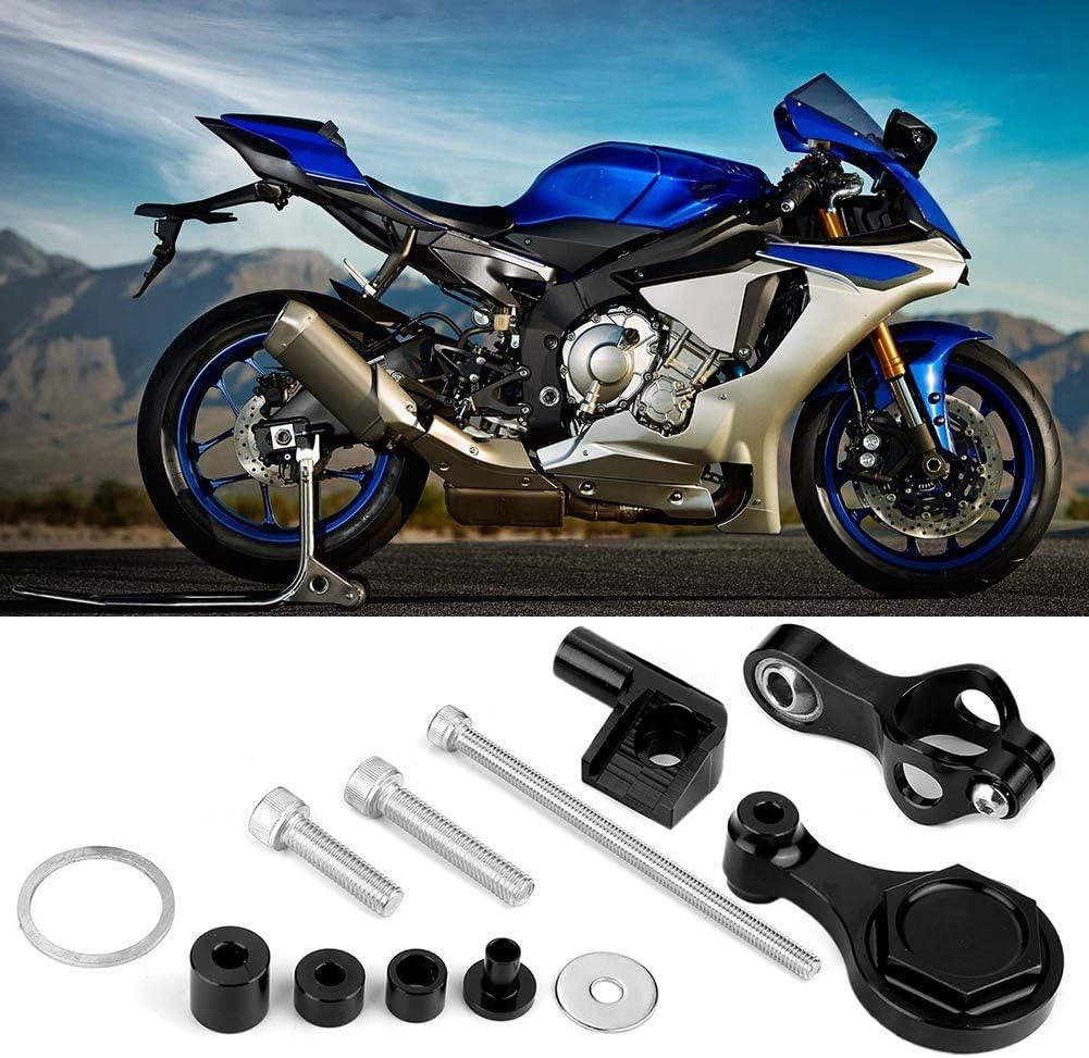 EBTOOLS Kit de soporte de montaje del amortiguador de la direcci/ón del CNC de la motocicleta Kits de montaje del amortiguador del estabilizador de la direcci/ón para YZF R6 2006-2016 R1 2009-2012