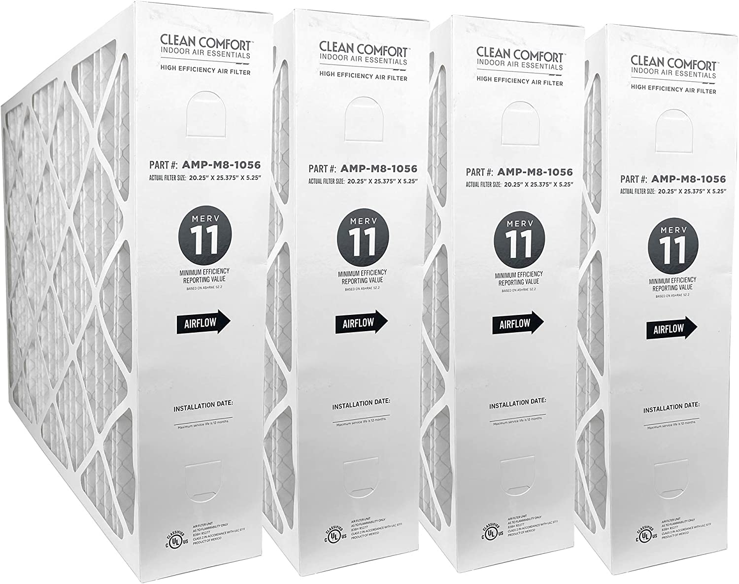 Clean Comfort Merv 11 Replacement Filter for 1625 Media Cleaner 3-Pack M1-1056