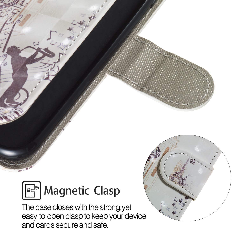 Felfy Kompatibel mit Galaxy J1 2016 H/ülle Leder,Kompatibel mit Galaxy J1 2016 Handyh/ülle Magnetic Flip Case PU Leder Schutzh/ülle Klapph/ülle 3D Creative Bunt Muster Tasche Lederh/ülle mit Kartenf/ächer