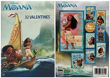 Amazoncom  Disney Moana 32 Fold and Seal Valentines Cards from