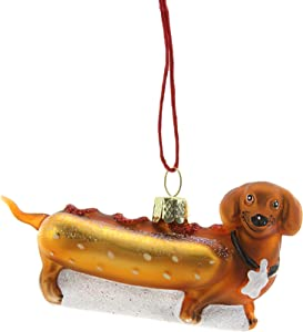 Cody Foster & Co Weiner PUP HOT Dog Ornament