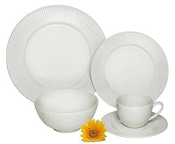 Melange 40-Piece Porcelain Dinnerware Set (Cascades) | Service for 8 | Microwave  sc 1 st  Amazon.com & Amazon.com | Melange 40-Piece Porcelain Dinnerware Set (Cascades ...