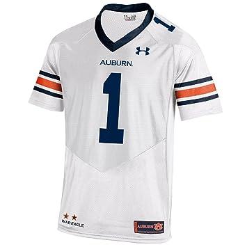 NCAA Auburn Tigers 1 hombres camiseta de fútbol Jersey, grande, color blanco