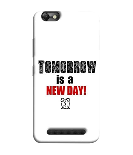 wholesale dealer 17701 9d88f Printfidaa Lenovo Vibe C Back Cover Tomorrow is A New: Amazon.in ...