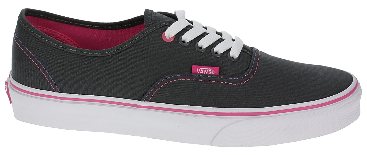 8b4aea380f Galleon - Vans Authentic (Pop) Dark Shadow Magenta Gray And Pink Sneakers  Skateboarding Shoes Size 11.5 Kids