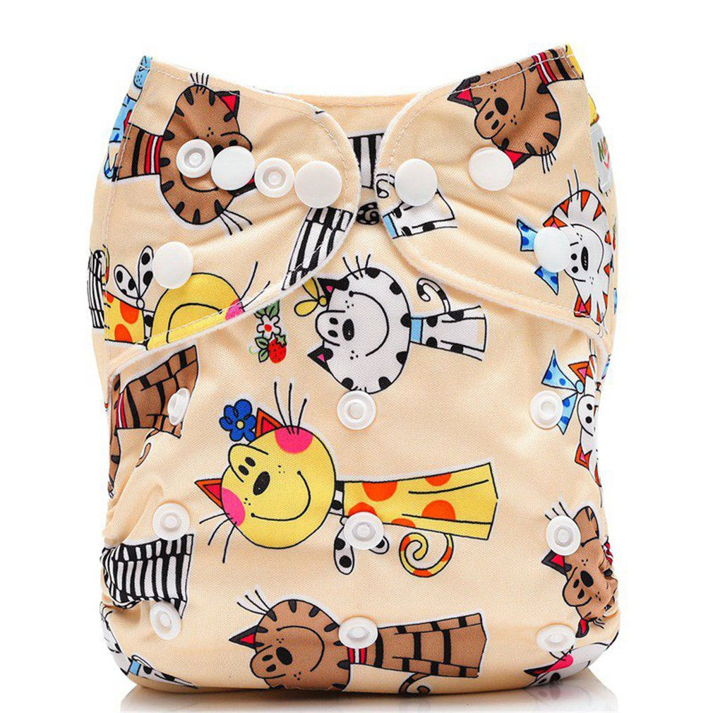 Baby Cloth Diaper Cover Reusable Baby Nappies Cover Nappy Washable Ajustable Pocket Diapers CQ08 With 1 insert