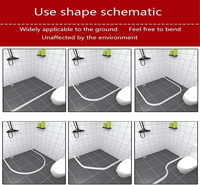 Barrera de agua de silicona para/baño/ducha/separación húmeda y ...