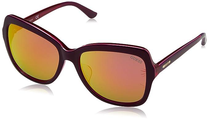 GUESS Gu7428F-81Z-57, Gafas de Sol para Mujer, Violeta, 57