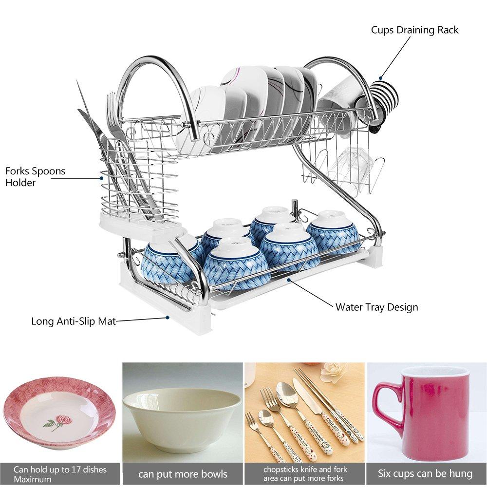 dish relaxdays plumbing rack diy reviews steel wayfair uk pdp draining stainless co