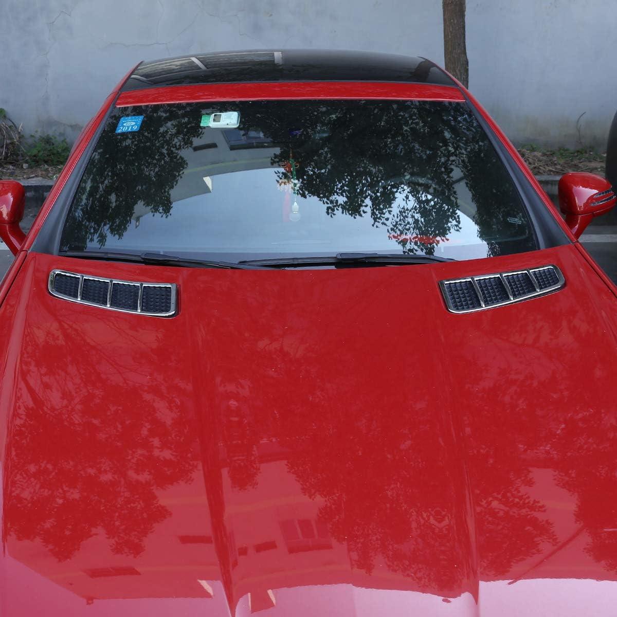 CHEYA ABS Chrome Engine Roof Hood Sticker Trim for Mercedes Benz SLK 200 2011 2012 2013 2014 2015 Silver