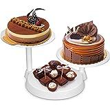 Torta Piatto Uten Alzate Dolci Stand Muffin per Festa Matrimonio Compleanno con 3 Strati, Color Bianco
