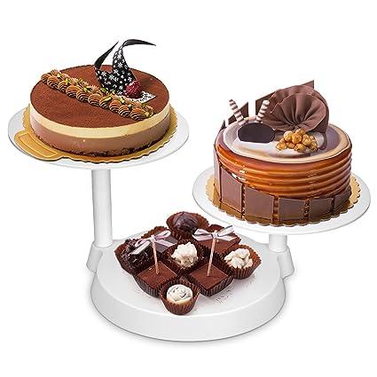 Uten Bandejas para Tartas Plástico Soporte de Torta Decoración de Pasteles Expositor para Hornear Herramientas 11