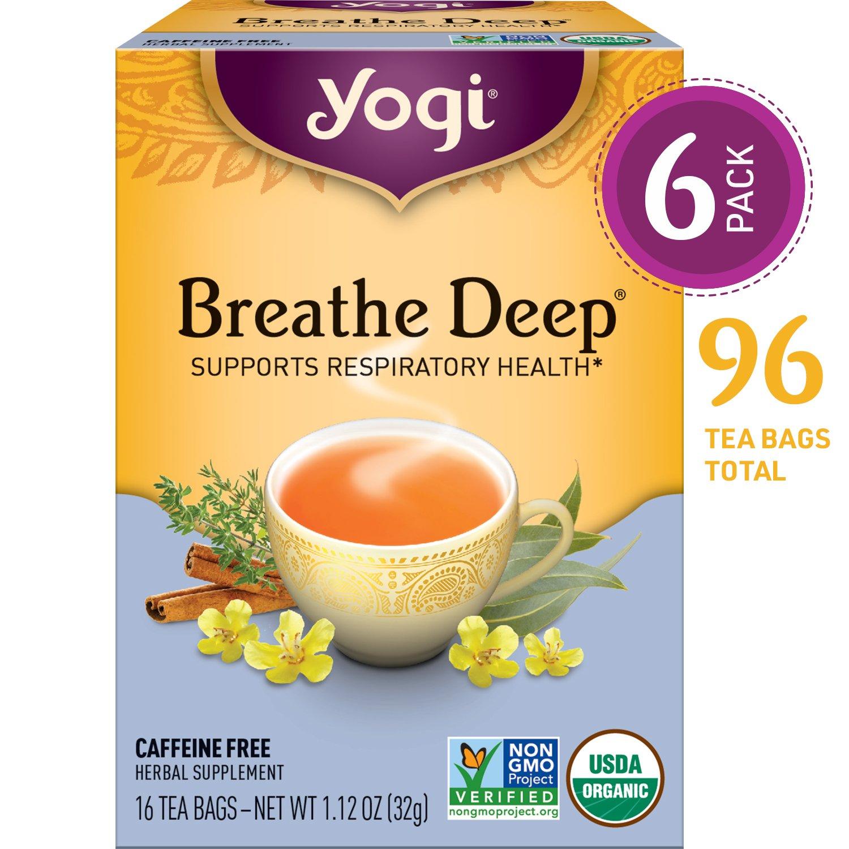 Yogi Tea - Breathe Deep - Supports Respiratory Health - 6 Pack, 96 Tea Bags Total by Yogi (Image #1)