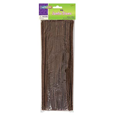 Creativity Street Chenille Stems/Pipe Cleaners 12 Inch x 6mm 100-Piece, Brown: Toys & Games