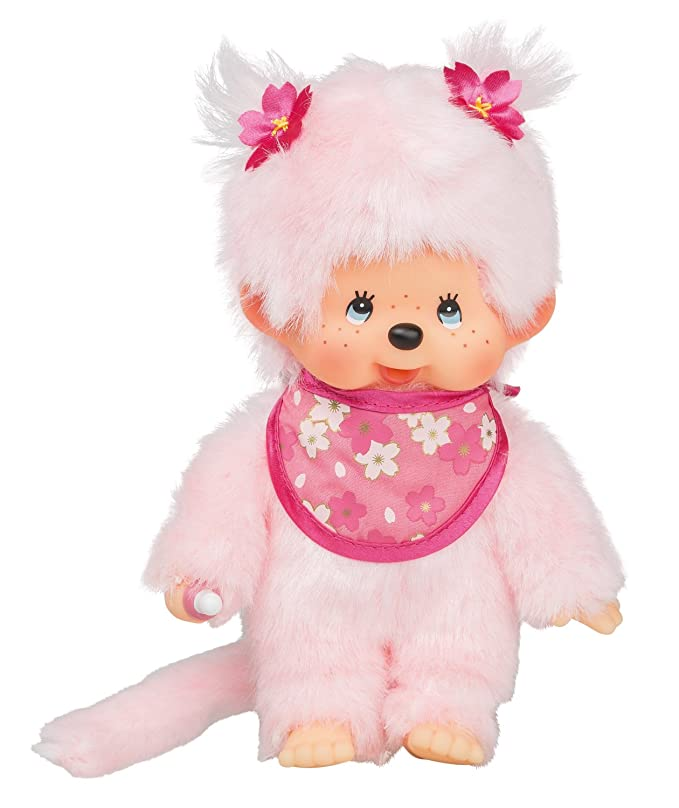 Amazon.com: Sekiguchi 767020 Monchhichi Cerisier peluche animaux – Rose: Toys & Games
