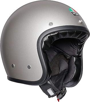 AGV X70 Llanura Mate Gris Motocicleta Casco Tamano 58cm