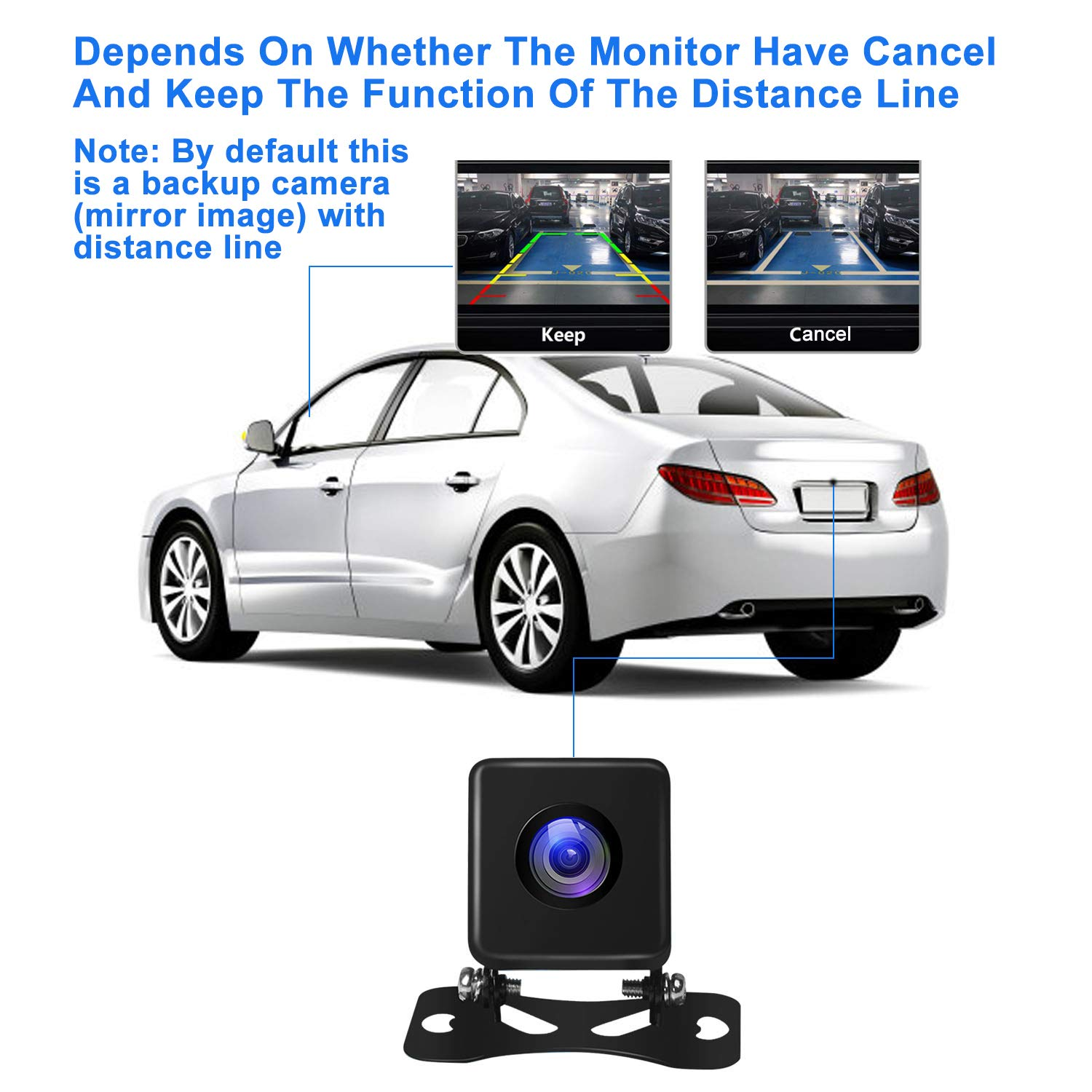 Uzone Car Backup Camera with Super Night Vision IP67 Waterproof Seismic Dust Prevention Rearview Camera Wide Angle View for Car RV Caravan Travel Trailer Hitch Tow Truck Reversing Camera