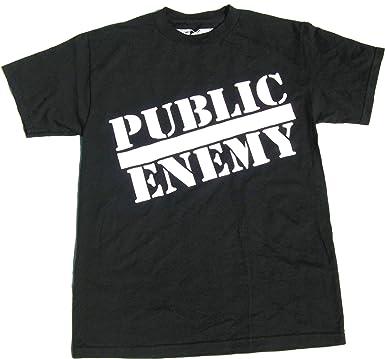 cb90192e Image Unavailable. Image not available for. Color: Public Enemy Classic  Logo men's T Shirt XL-Black
