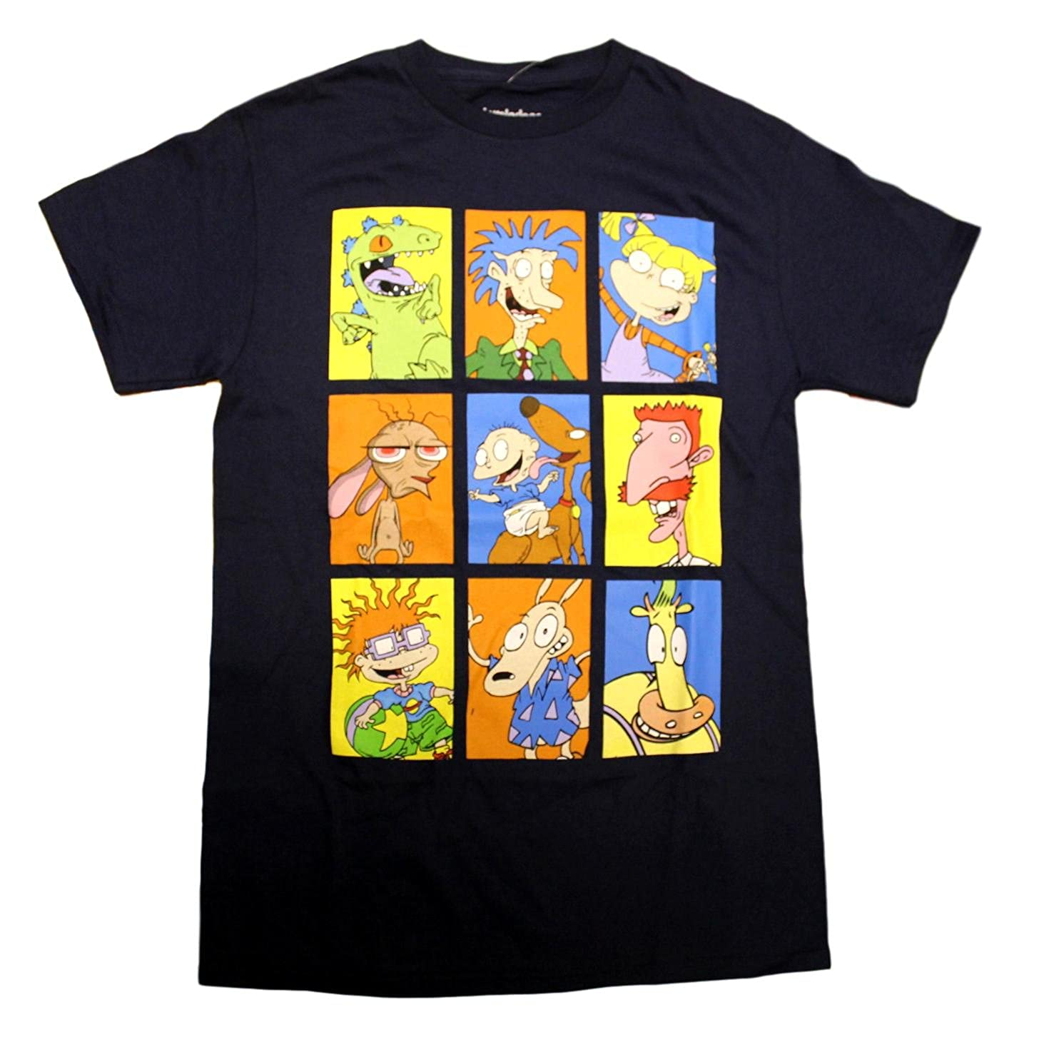 af05948c3e84 Amazon.com  Nickelodeon Mens The Faces Of Rugrats Graphic T-Shirt - X-Large  46 48  Clothing