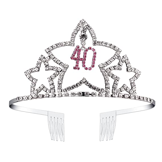 BABEYOND cristal cumpleaños tiara corona del Rhinestone ...