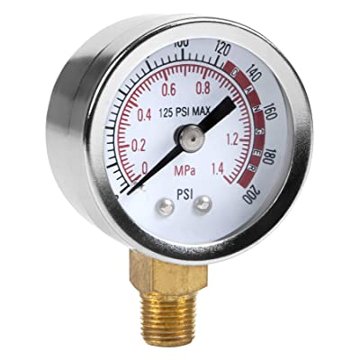 Performance Tool 0-200 PSI Air Gauge for Air Tank Accessory W10055: Home Improvement