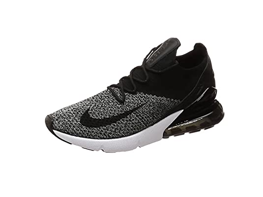 870966ad6b40 Nike Men s Air Max 270 Flyknit Fitness Shoes Black White 001