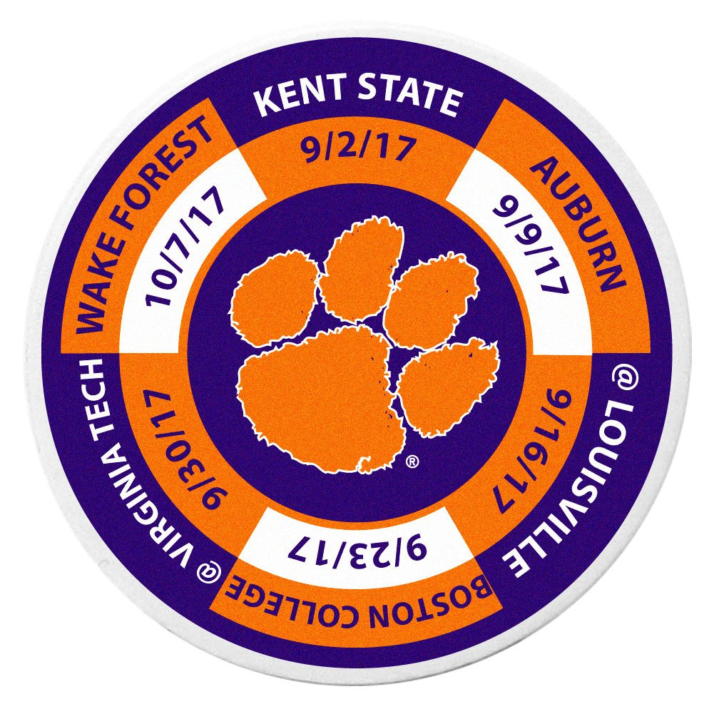 Siskiyou NCAA Clemson Tigers Schedule Golf Ball Marker Coin