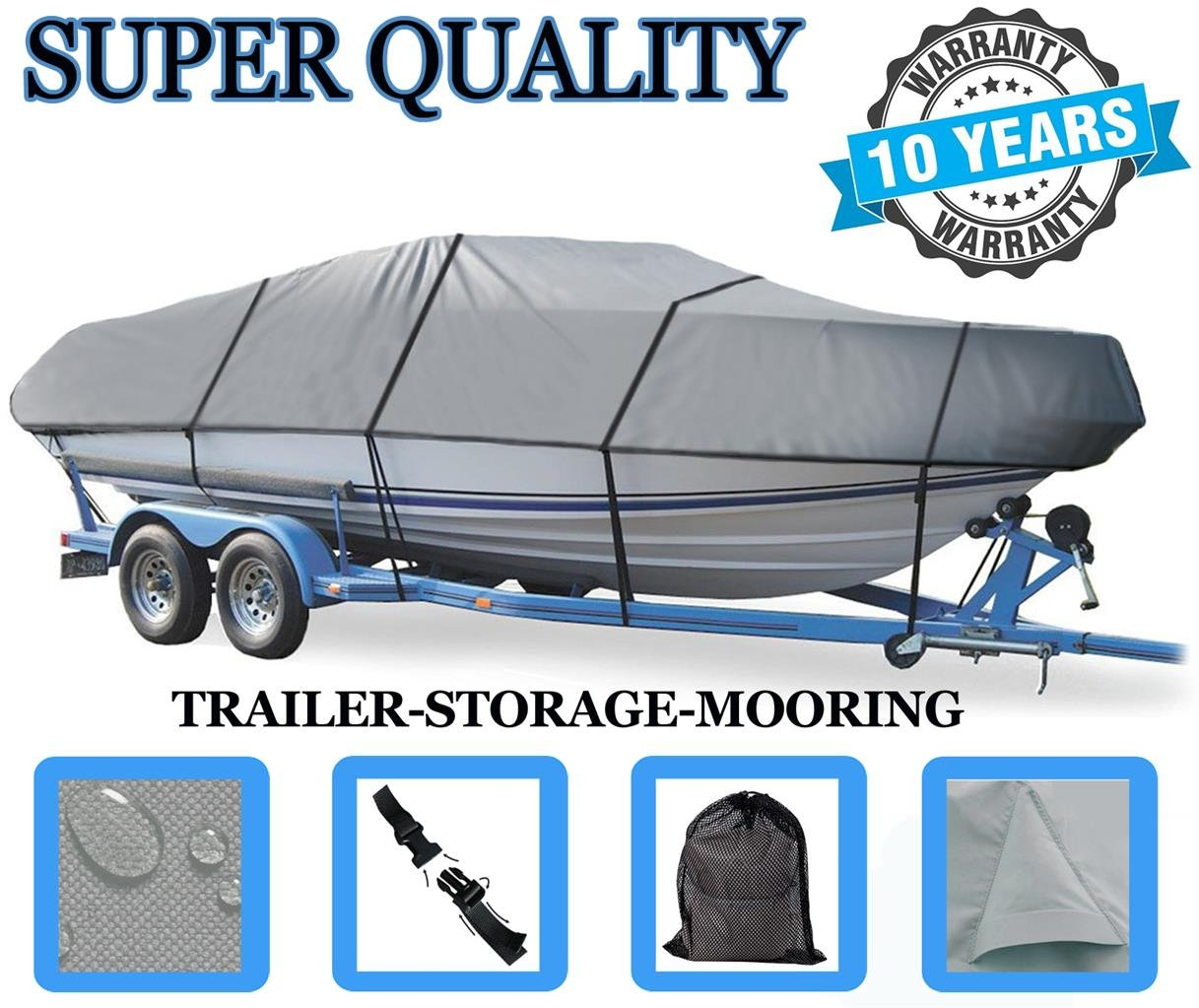 BOAT COVER FOR MASTERCRAFT 225 MARISTAR / 225 VRS 93-1997 Heavy-Duty Great Quality