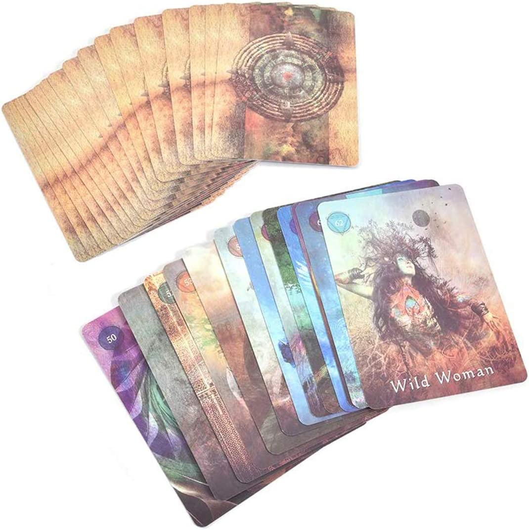 Fate Prediction Card Set Oracle Cards Universal Old-Fashioned Adivination Future Game Card Set YMFZYM 64 Mystical Shaman Oracle Tarot Card