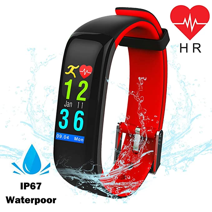 326ed5c294c Smart Watch Waterproof Fitness Tracker with Blood Pressure Heart Rate  Monitor Men Women Outdoor Activity Run