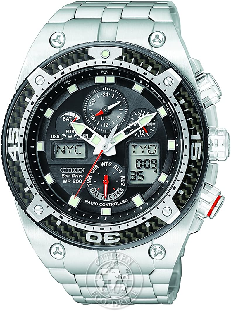 Citizen Men's Eco-Drive Promaster Carbon Chronograph Stainless Steel Watch  #JY0075-54E: Amazon.co.uk: Watches