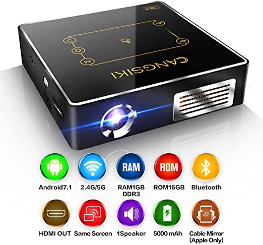 Mini Proyector WiFi Bluetooth HD Nativa 854 * 480P Proyector ...