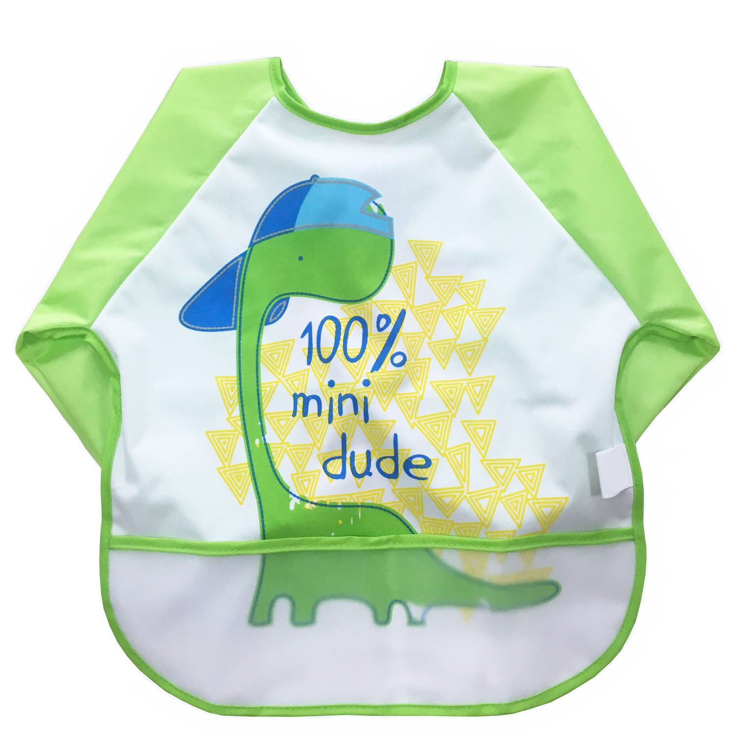 babylaza Kids Childs Arts Craft Painting Apron Baby Bib Messy Play Wipe Clean Coverall-Unisex Baby Waterproof Sleeved Bib Eat and Play Smock, Toddler Apron (Yellow) babylaza20811-AB-4