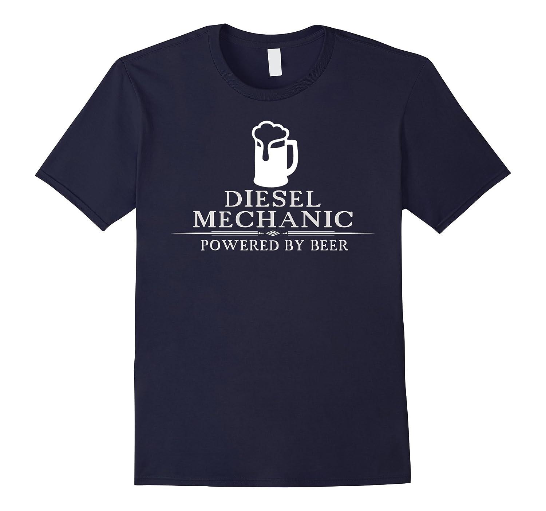 Diesel Mechanic Powered By Beer T-Shirt-BN