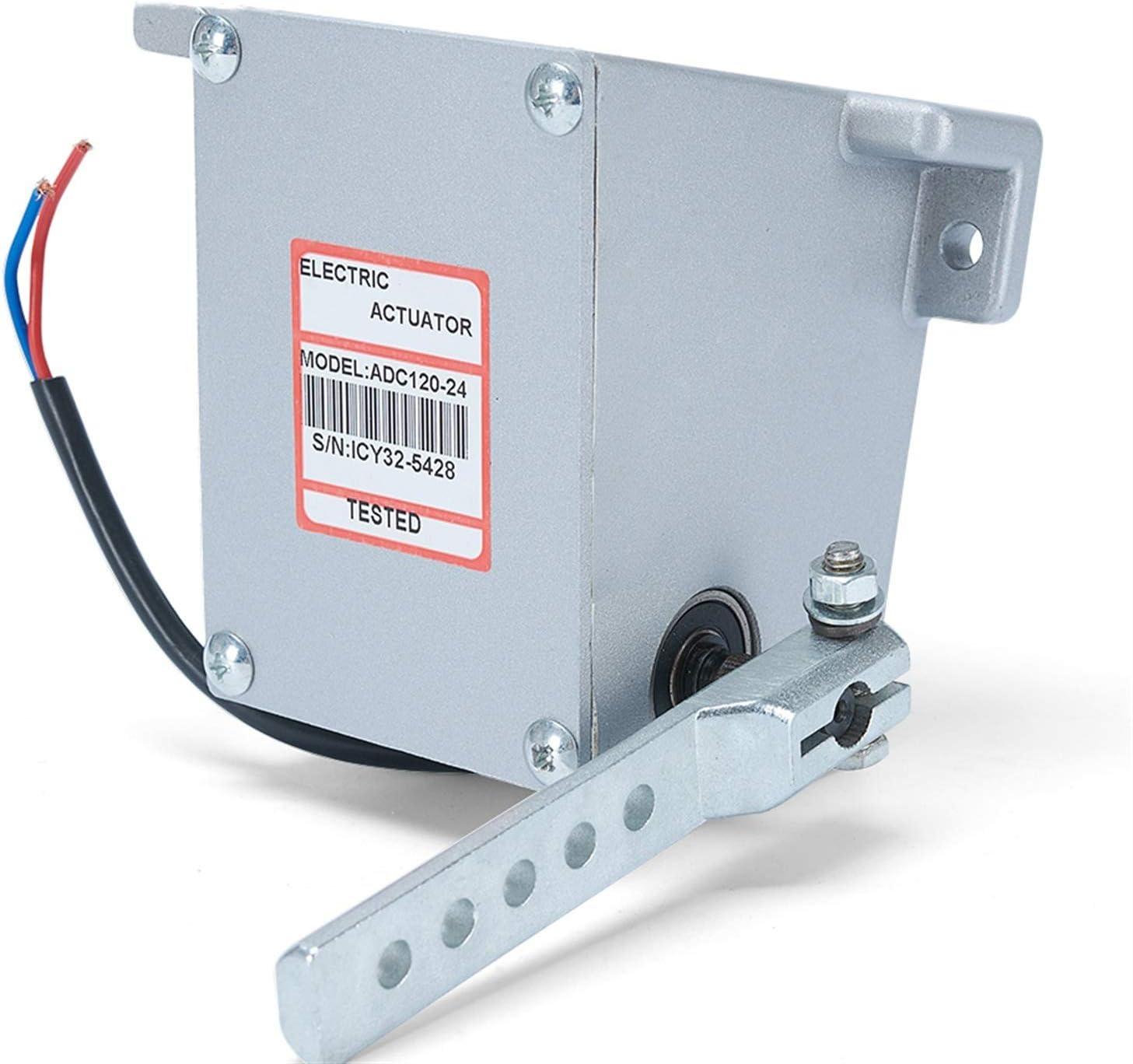 ADC120 12V 24V Controlador electrónico ACTUADOR DE Motor GOVORNOR Bomba DE Combustible Diesel GENSET Parte Lineal ROTORK Tipo Externo Actuador (Color : 24V)