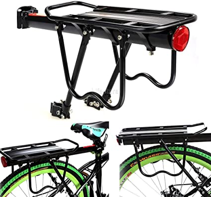 Bicycle Bike Rear Rack Mountain MTB Seat Mount Pannier Luggage Carrier Rack New