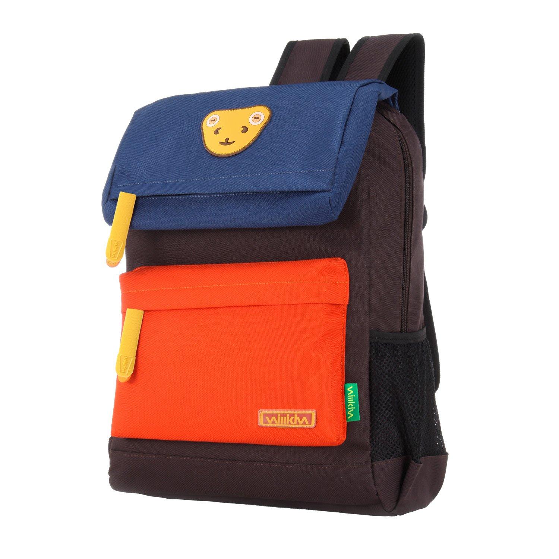 add11d95a5 Willikiva Cute Bear Kids School Backpack for Children Elementary School Bags  Girls Boys Bookbags (Royalblue Orange Coffee