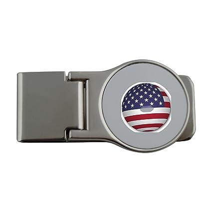 Metal dinero clip con esfera de bandera de Estados Unidos ...